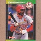 1989 Donruss Baseball Vince Coleman Cardinals #181