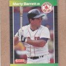 1989 Donruss Baseball Marty Barrett Red Sox #184