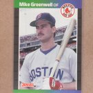 1989 Donruss Baseball Mike Greenwell Red Sox #186
