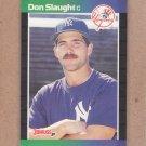 1989 Donruss Baseball Don Slaught Yankees #190