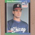 1989 Donruss Baseball Steve Rosenberg White Sox #219