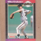 1989 Donruss Baseball Mike Krukow Giants #258
