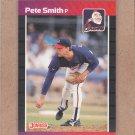 1989 Donruss Baseball Pete Smith Braves #263