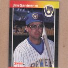 1989 Donruss Baseball Jim Gantner Brewers #264