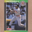 1989 Donruss Baseball Lou Whitaker Tigers #298