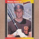 1989 Donruss Baseball Shawn Abner Padres #323