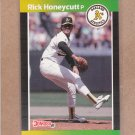 1989 Donruss Baseball Rick Honeycutt A's #328