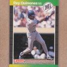 1989 Donruss Baseball Rey Quinones Mariners #330