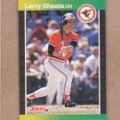 1989 Donruss Baseball Larry Sheets Orioles #333