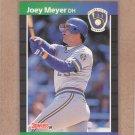 1989 Donruss Baseball Joey Meyer Brewers #339