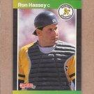 1989 Donruss Baseball Ron Hassey A's #361