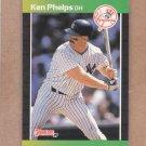 1989 Donruss Baseball Ken Phelps Yankees #363
