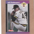 1989 Donruss Baseball Jeff Robinson Pirates #370