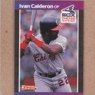 1989 Donruss Baseball Ivan Calderon White Sox #371
