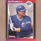 1989 Donruss Baseball Jim Presley Mariners #379