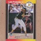 1989 Donruss Baseball Luis Polonia A's #386
