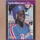 1989 Donruss Baseball Curtis Wilkerson Rangers #402