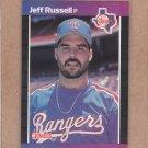1989 Donruss Baseball Jeff Russell Rangers #403