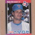 1989 Donruss Baseball Bob Brower Rangers #411