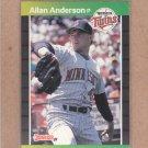 1989 Donruss Baseball Allan Anderson Twins #419