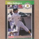 1989 Donruss Baseball Mike Gallego A's #422