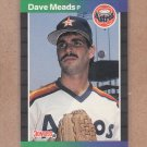 1989 Donruss Baseball Dave Meads Astros #424