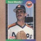1989 Donruss Baseball Dave Meads Astros #424