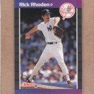 1989 Donruss Baseball Rick Rhoden Yankees #429