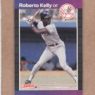 1989 Donruss Baseball Roberto Kelly Yankees #433