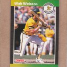 1989 Donruss Baseball Walt Weiss A's #446