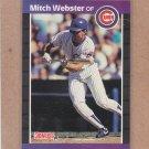 1989 Donruss Baseball Mitch Webster Cubs #459