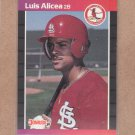 1989 Donruss Baseball Luis Alicea RC Cardinals #466