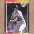 1989 Donruss Baseball Charlie Lea Twins #473