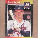 1989 Donruss Baseball Bruce Benedict Braves #475