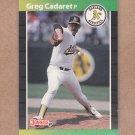 1989 Donruss Baseball Greg Cadaret A's #479