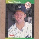 1989 Donruss Baseball Dave Eiland Yankees #481
