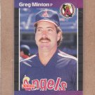 1989 Donruss Baseball Greg Minton Angels #490
