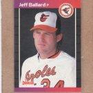 1989 Donruss Baseball Jeff Ballard Orioles #495