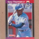 1989 Donruss Baseball Gary Thurman Royals #498