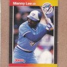 1989 Donruss Baseball Manny Lee Blue Jays #504