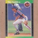 1989 Donruss Baseball Tim Teufel Mets #507