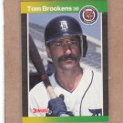 1989 Donruss Baseball Tom Brookens Tigers #508