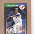 1989 Donruss Baseball Charles Hudson Yankees #514