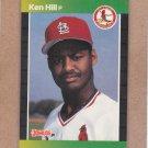1989 Donruss Baseball Ken Hill RC Cardinals #536