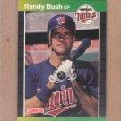 1989 Donruss Baseball Randy Bush Twins #537