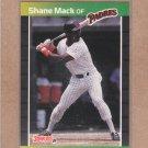 1989 Donruss Baseball Shane Mack Padres #538