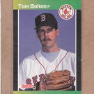 1989 Donruss Baseball Tom Bolton Red Sox #539