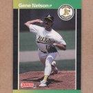 1989 Donruss Baseball Gene Nelson A's #540