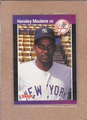 1989 Donruss Baseball Hensley Meulens RC Yankees #547