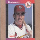 1989 Donruss Baseball Tim Jones Cardinals #555